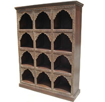 Wooden Carved Arch Display Shelf