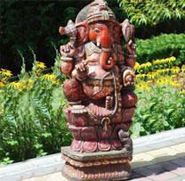 Wooden Carved Ganesha