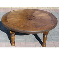 Wooden Old Wheel Coffee Table