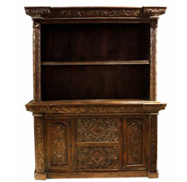 Wooden Carved 2 Drawers Hutch Cabinet