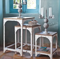 Industrial Nested Table Set of 3