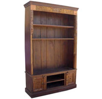 Wooden Old Door Carved Frame Plasma Cabinet