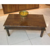 Wooden Carved Frame Coffee Table