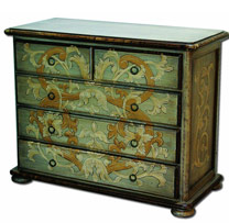 Wooden Painted 5 Drawers Chest