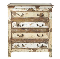 Reclaimed Wood 4 Drawers Chest