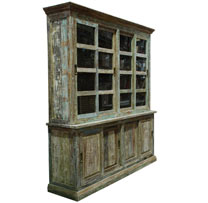 Reclaimed Wood 2 Part Large Cabinet